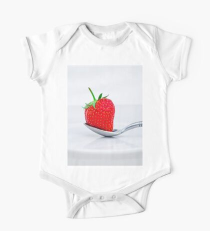 Strawberry on a plate One Piece - Short Sleeve