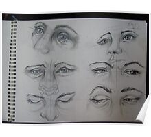 eyes sketch Poster