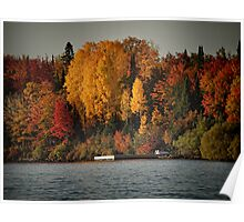 Autumn Arrives to Buffalo Bay Poster