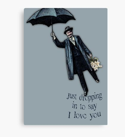 Just Dropping In Valentine Canvas Print