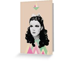 Dorothy //pastel triangles Greeting Card