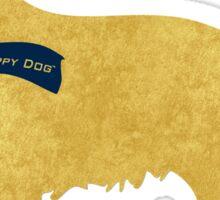 Preppy Golden Retriever - Navy Winter Scarf Sticker