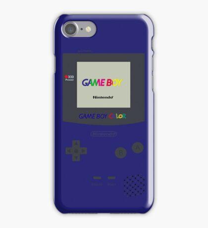 Gameboy Color (Blue) iPhone Case/Skin