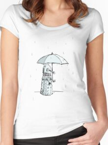 Dalek in the Rain Women's Fitted Scoop T-Shirt