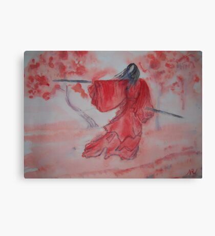 Chinese Ink III - Warrior Woman  Canvas Print