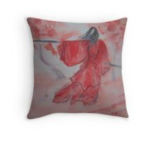 Chinese Ink III - Warrior Woman  Throw Pillow
