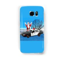 HO HO HOLD ON SEASONS GREETING HUMEROUS POLICE SANTA PILLOW AND OR TOTE BAG Samsung Galaxy Case/Skin