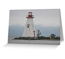 Lighthouse in Bras D'Or Lakes Nova Scotia Greeting Card