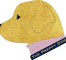 Preppy Golden Retriever Silhouette by emrdesigns