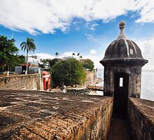 Old San Juan City Walls and Gate by George Oze