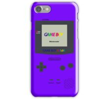 Gameboy Color (Purple) iPhone Case/Skin