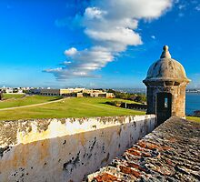View of Old San Juan From The El Morro by George Oze