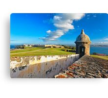 View of Old San Juan From The El Morro Canvas Print