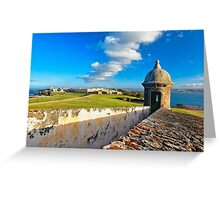 View of Old San Juan From The El Morro Greeting Card