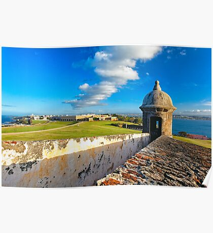 View of Old San Juan From The El Morro Poster