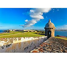 View of Old San Juan From The El Morro Photographic Print