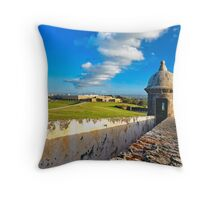 View of Old San Juan From The El Morro Throw Pillow