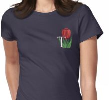 T is for Tulip - patch Womens Fitted T-Shirt