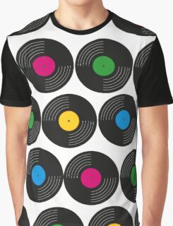 Vinyl Record Collection Graphic T-Shirt