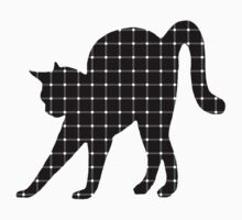 Black Cat Optical Illusion Effect Kids Clothes