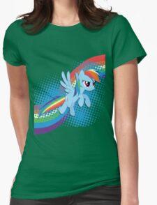 Rainbow DASH! Womens Fitted T-Shirt