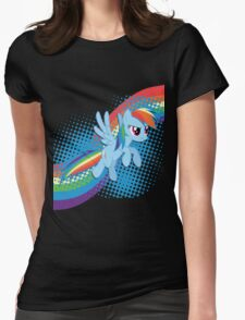 Rainbow DASH! Womens Fitted T-Shirt