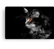 Cat By Night Canvas Print