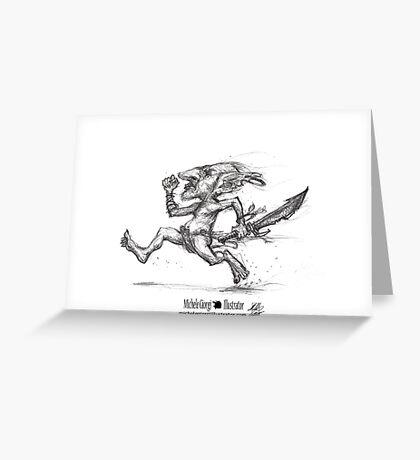 Goblin Rush!  Greeting Card