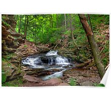 Seneca Falls From The Narrow Trail Ledge  Poster