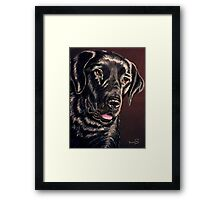 """Signature Grin"" Portrait Of A Black Lab Framed Print"