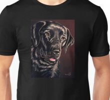 """Signature Grin"" Portrait Of A Black Lab Unisex T-Shirt"