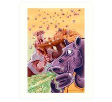 Feed the Hippos Art Print