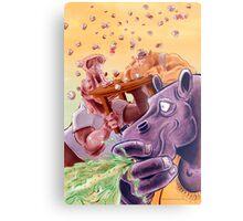 Feed the Hippos Metal Print