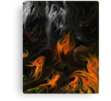 Old flame... Canvas Print