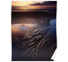 Sand Trails on Godfreys Beach Poster