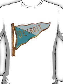 Vintage Detroit Flag Souvenir T-Shirt