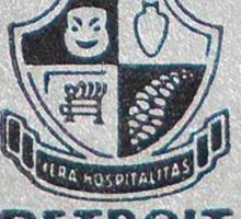 Vintage Detroit Hotel Detroiter Ad Sticker