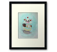 Hamster Sundae! Framed Print
