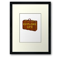explore life old suitcase vacation tee  Framed Print