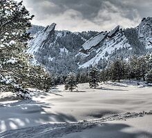 Flatirons Journey - First Tracks by Gregory J Summers