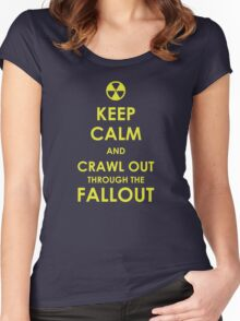 Crawl Out Through The Fallout Women's Fitted Scoop T-Shirt