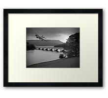 Lancaster Over Ladybower Framed Print