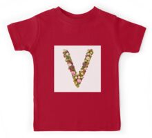 Capital Letter V Part of a set of letters, Numbers and symbols  Kids Tee