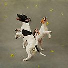 Puppies and Floating Feathers by Alicia Adamopoulos