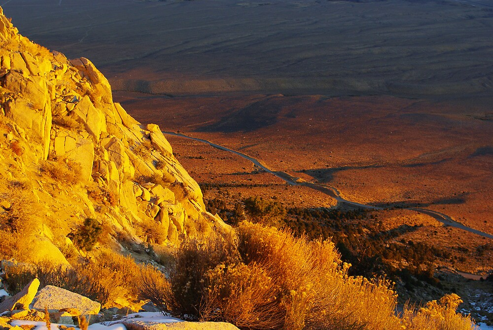 Looking down from the Sierra just after sunrise by Claudio Del Luongo