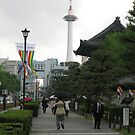 Kyoto Tower and Temple (Japan) by tomoenk6