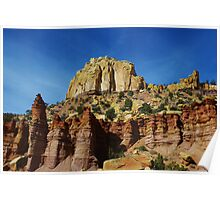 Fantastic colors in rock towers and walls Poster