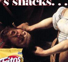 Don't Be Eating Granny's Snacks - Caravaggio Sticker