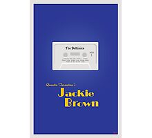 Original Jackie Brown Minimalist Movie Poster Photographic Print