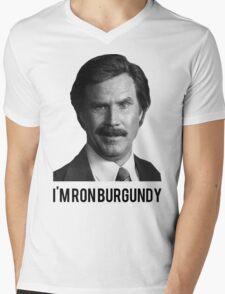 Hi! I'm Ron Burgundy Mens V-Neck T-Shirt